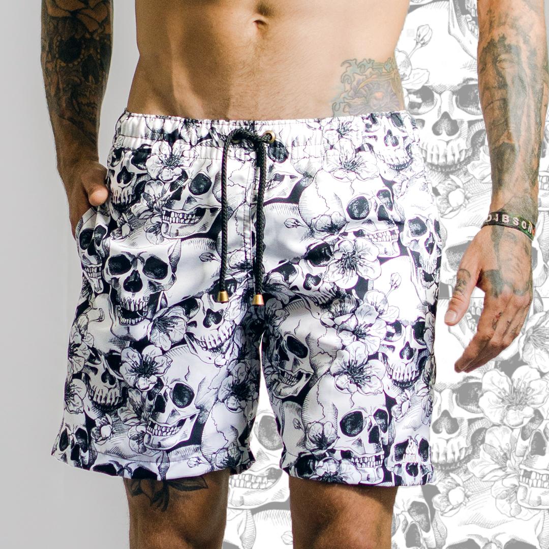 5e255dc25b41 Shorts de praia masculino estampado LaVíbora Shorts com estampa sublimática  em alta definição 2 bolsos laterais