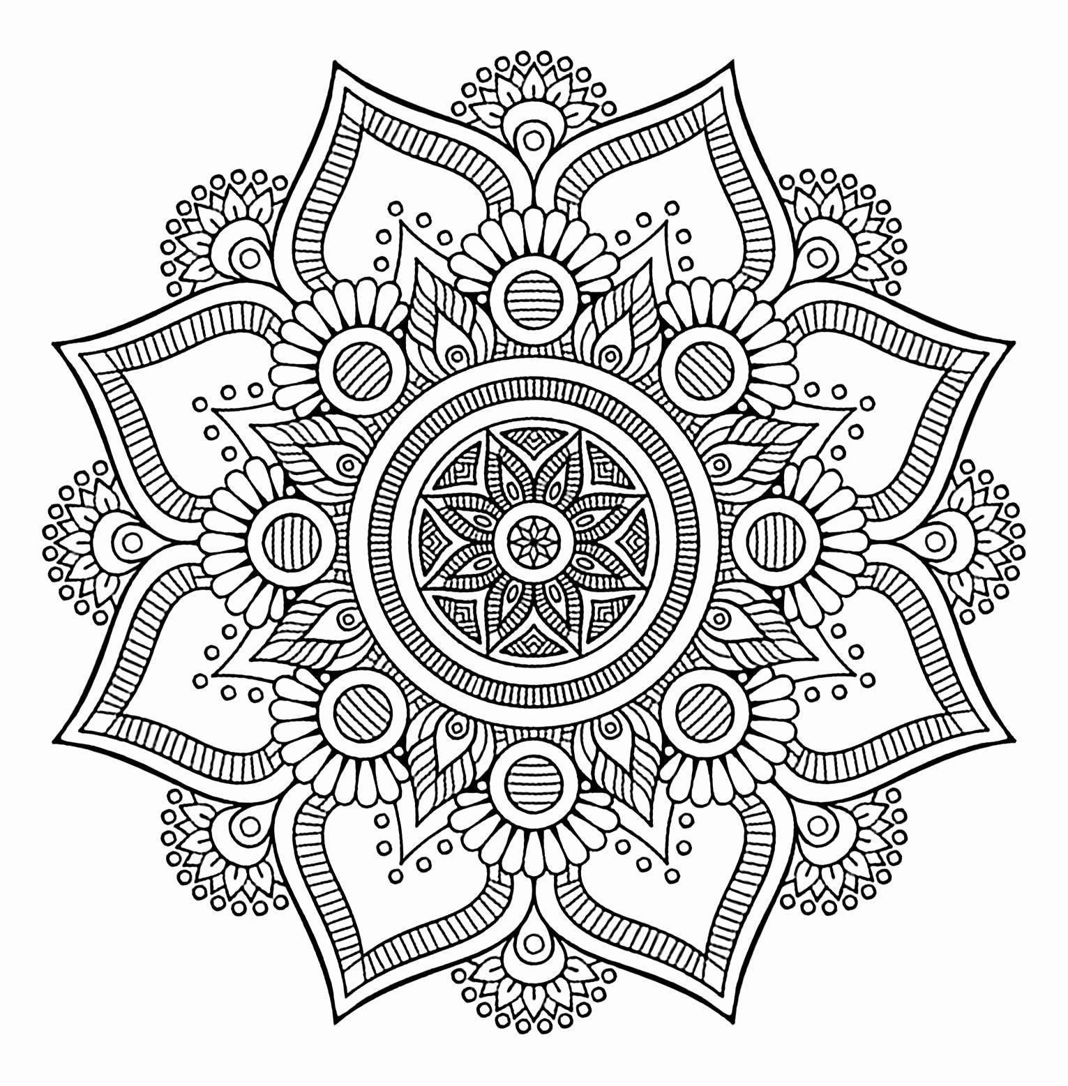 Coloring 8 Flowers Luxury Flower Mandalas To Color For Calm Flowers Healthy Mandala Coloring Mandala Coloring Pages Abstract Coloring Pages