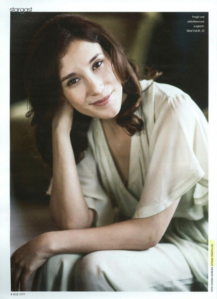 sibel kekilli in elle magazine us styling by violetta vio august 2013 about her work with. Black Bedroom Furniture Sets. Home Design Ideas