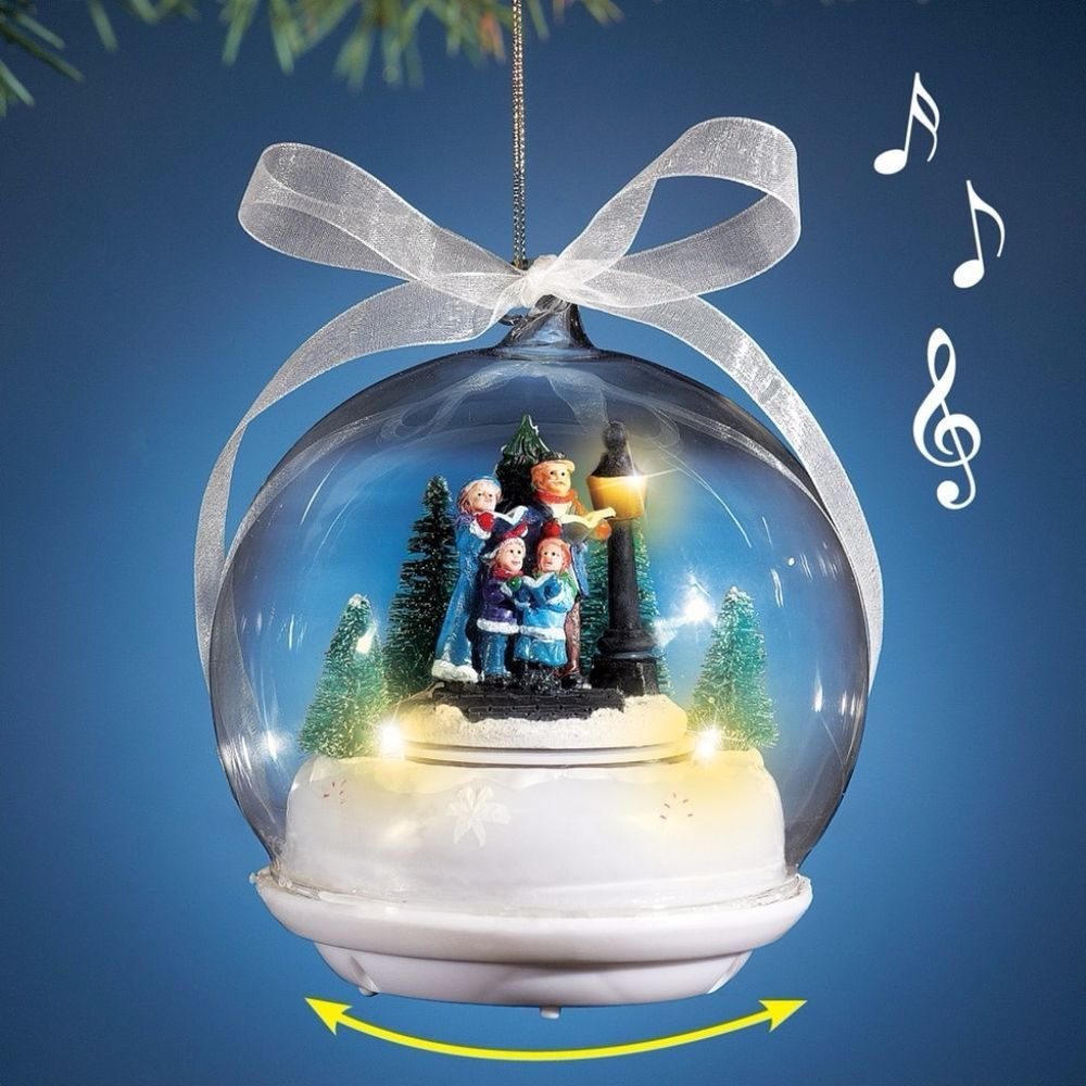 Christmas Musical Scenes Ornaments Part - 43: Musical Carolers Christmas Evergreen Tree Ornament Winter Scene Hanging  Decor