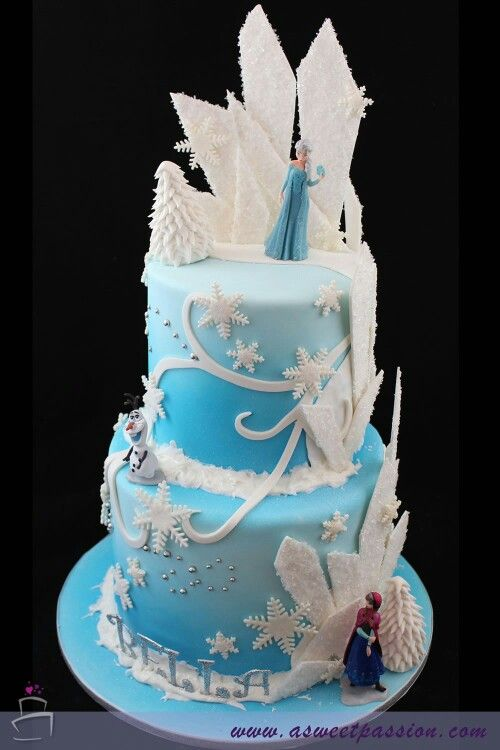 Pin By Ayla Y On Frozen Party Theme Frozen Birthday Cake