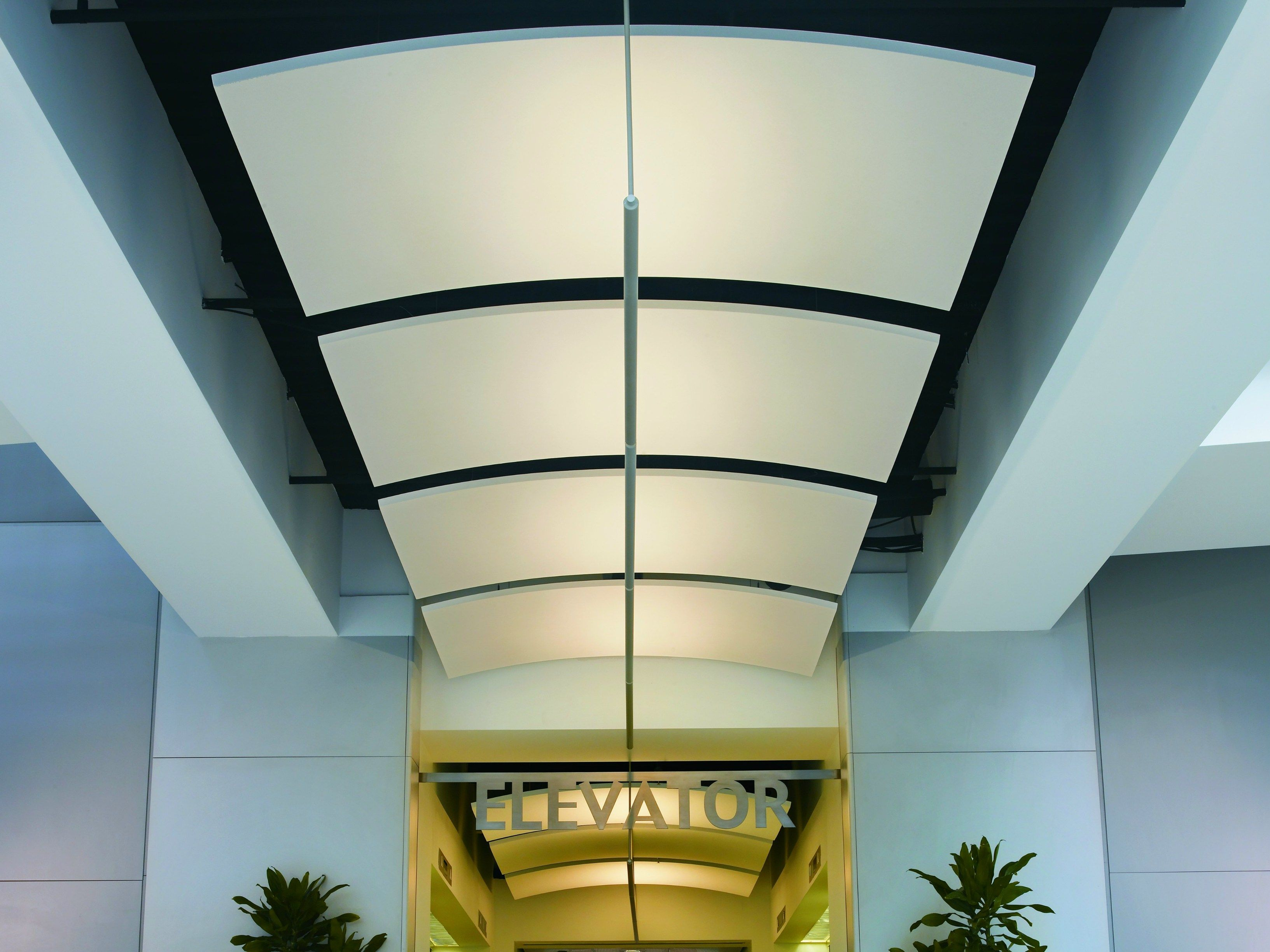 acoustic ceiling clouds optima canopy curvedarmstrong building