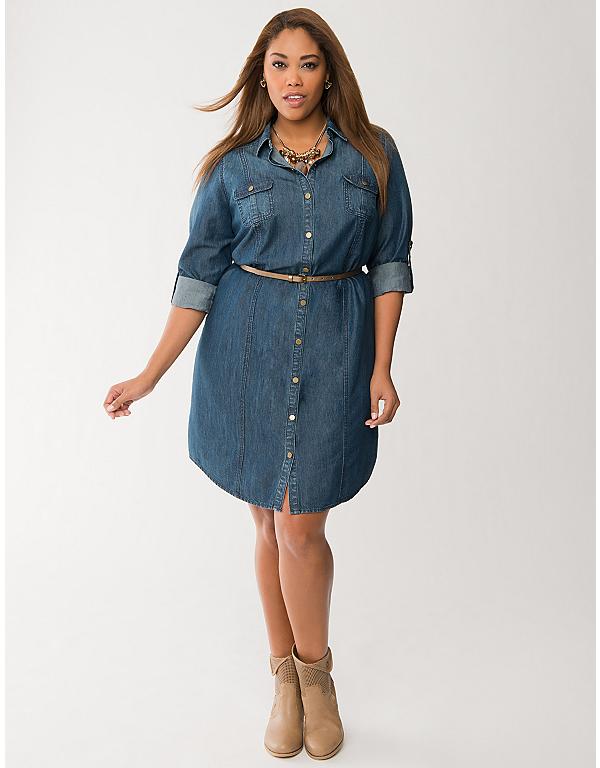 Plus Size Denim Shirt Dress By Lane Bryant Lane Bryant Closet