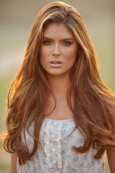 Beautiful Golden Brown Hair Color Great For Girls With A Tan Or