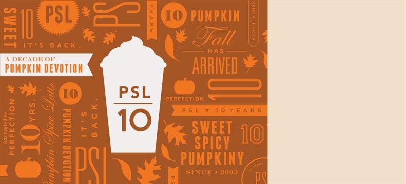 1805eab1a94 Starbucks Pumpkin Spice Latte - it has its own anniversary logo ...