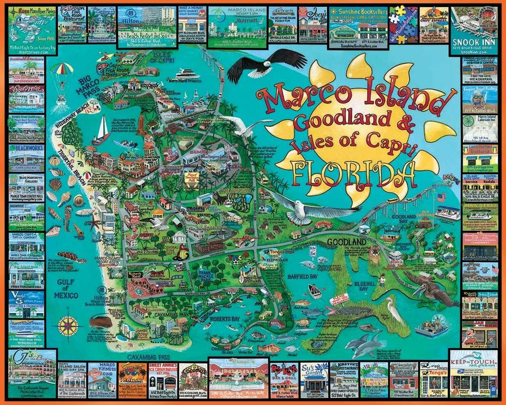 Marco Island, FL - 1000pc Jigsaw Puzzle by White Mountain | Marco ...
