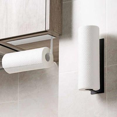 Bathroom Paper Towel Roll Holder Self Adhesive Kitchen Wall Mounted Rack LA