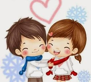 Cute Cartoon Couple Pic For Dp