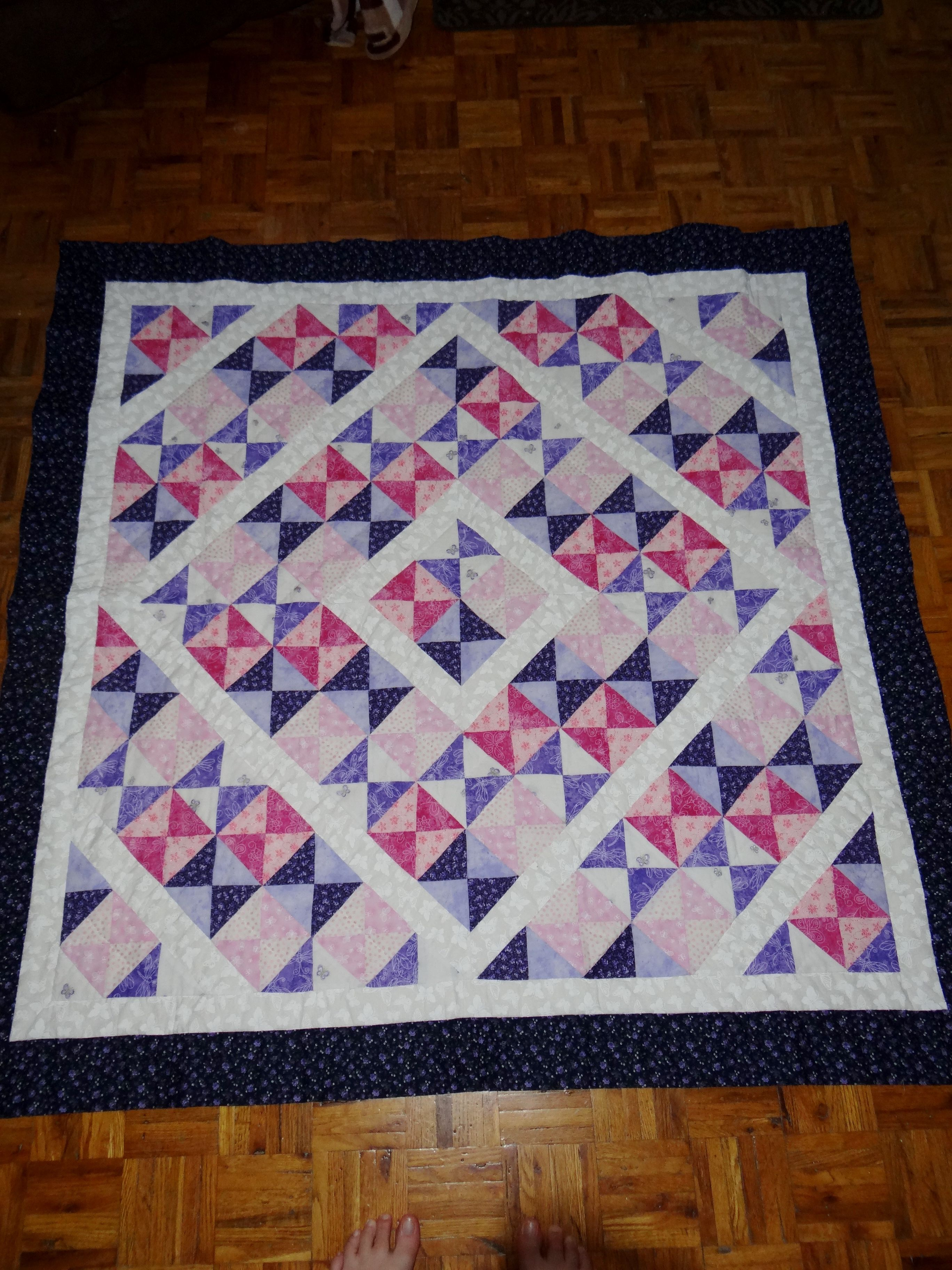 Baby Girl Hand Sewn Quilt