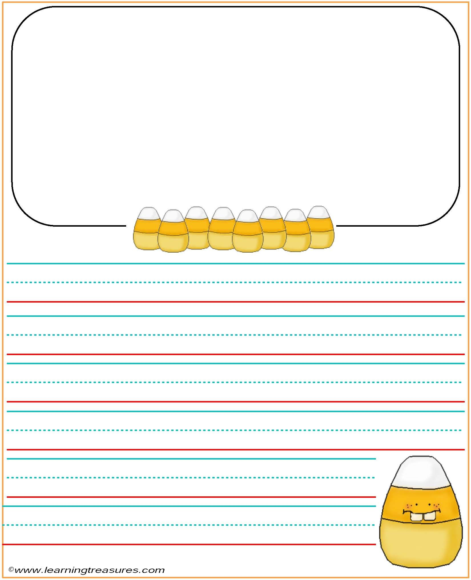 Candy Corn Story Sheet For Kids