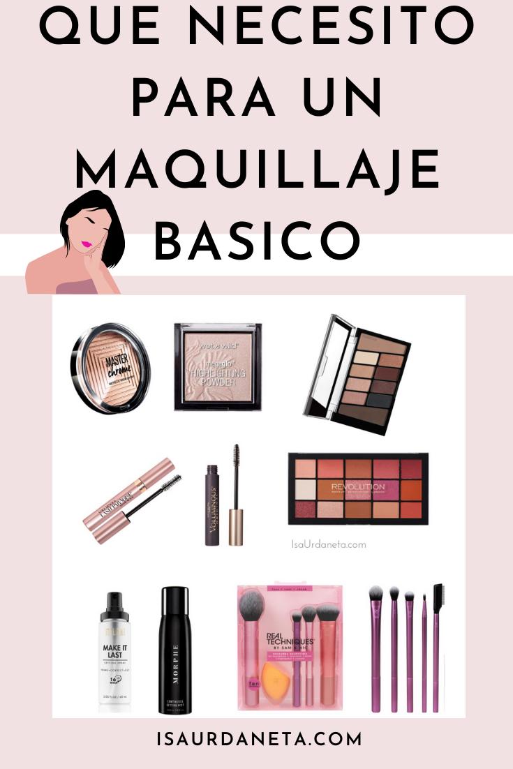 Lista para hacer un kit básico de maquillaje.