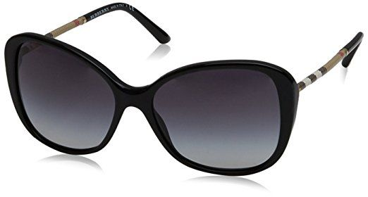 f25f99c6ab Burberry BE4235Q 30018G Black BE4235Q Butterfly Sunglasses Lens Category 3  Size