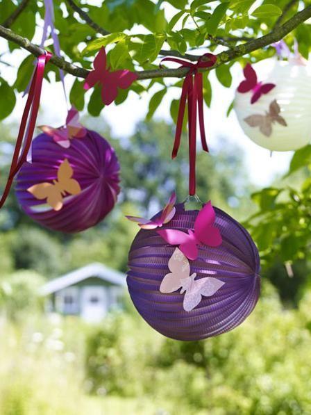 Schon Und Kreativ Gartendeko Zum Selbermachen Wunderweib Schmetterling Geburtstagsparty Dekorpapier Feengeburtstag