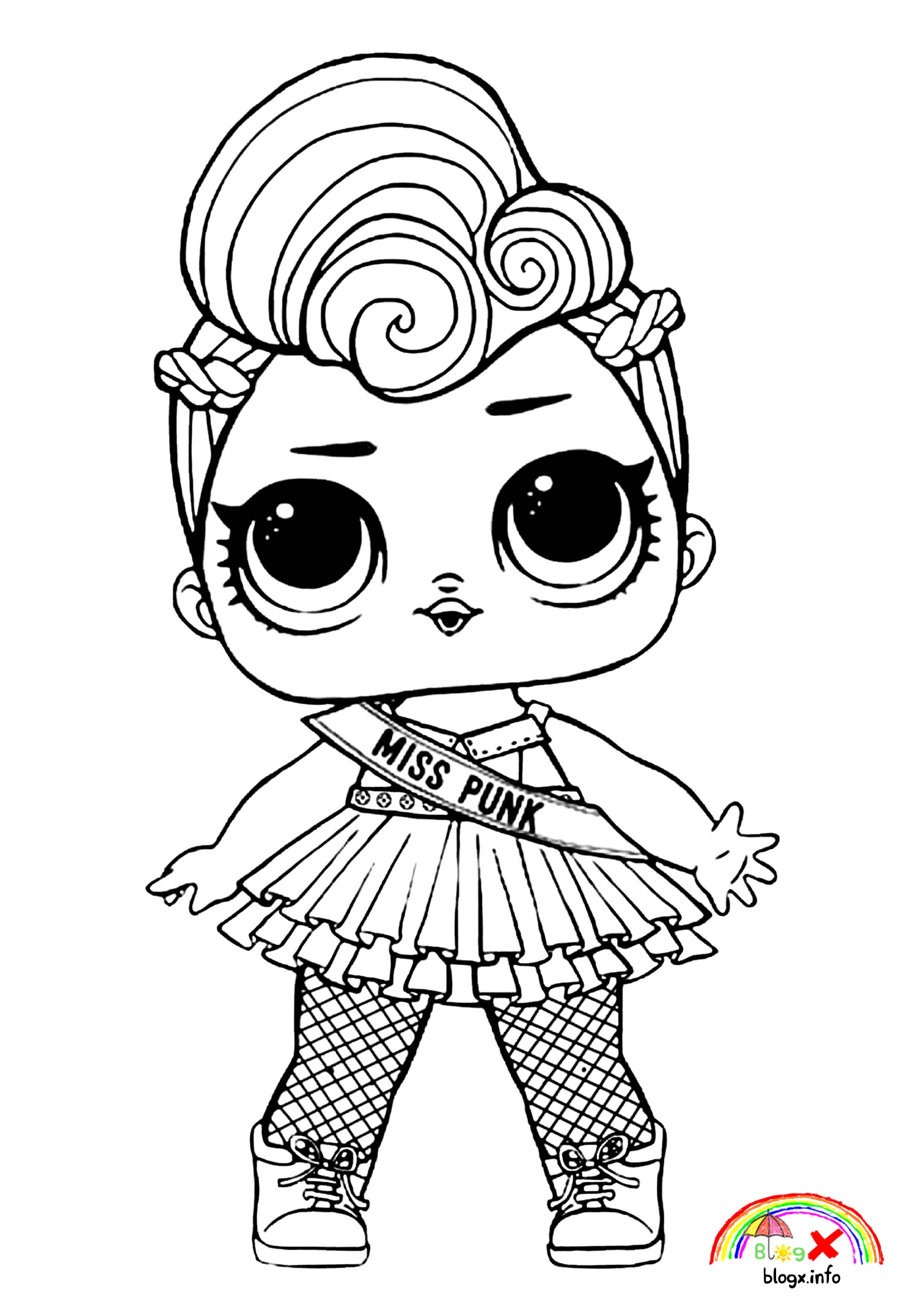 Miss Punk Lol Dolls Coloring Page