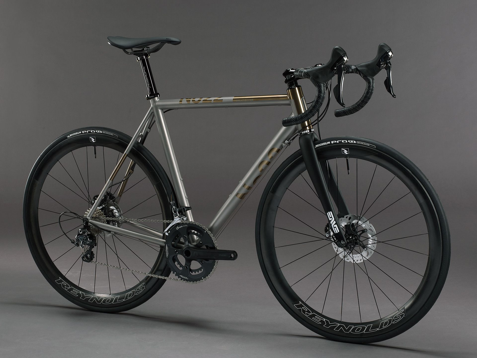 No 22 Bicycle Company Great Divide Complete Titanium Road Disc Bike Proudly Handbuilt In Usa Titanium Bike Titanium Road Bike Bike Swag