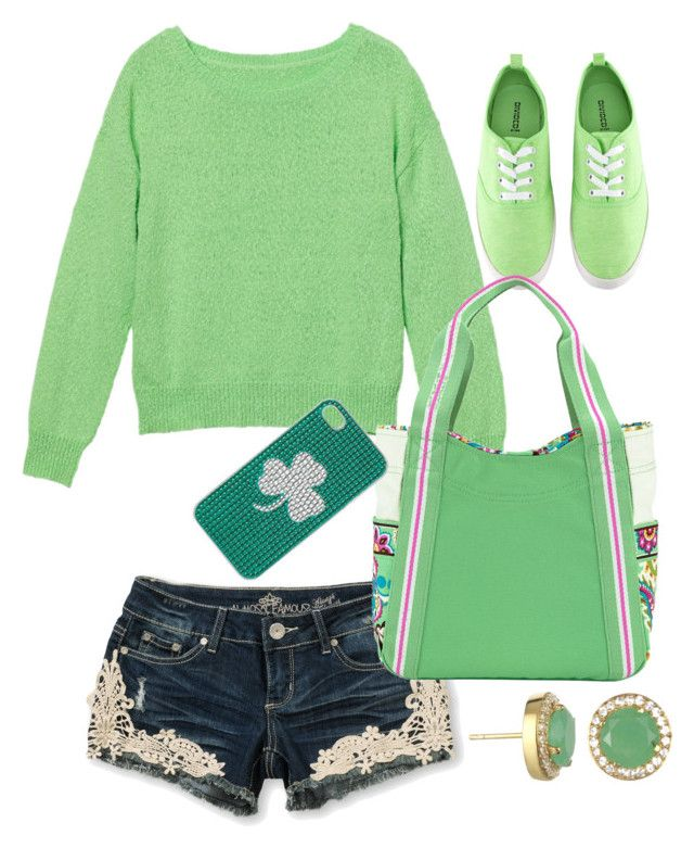 """St.Patrick's Day #2"" by hannahintheuk ❤ liked on Polyvore featuring Almost Famous, Monki, H&M and Vera Bradley"
