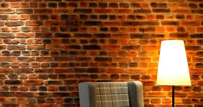 Pared de ladrillo rustico con panel decorativo fibra de - Panel decorativo cocina ...