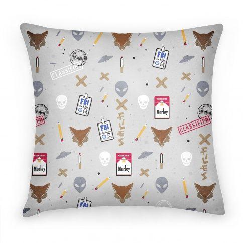 X Files Pattern Pillow