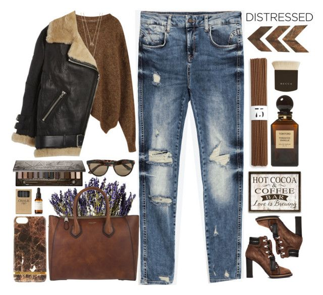"""""""Distressed denim"""" by doga1 ❤ liked on Polyvore featuring Tod's, Isabel Marant, Michael Kors, WALL, Acne Studios, Jayson Home, Vero Moda, Richmond & Finch, Urban Decay and Becca"""