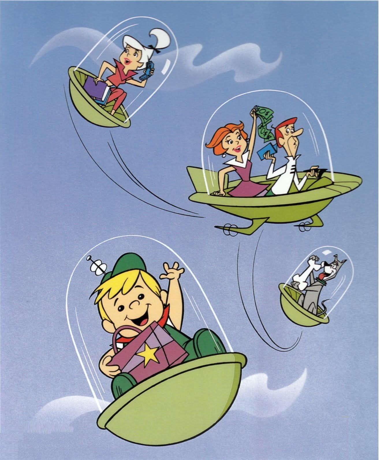Cartoon Characters Jetsons : The jetsons s watching saturday morning cartoons