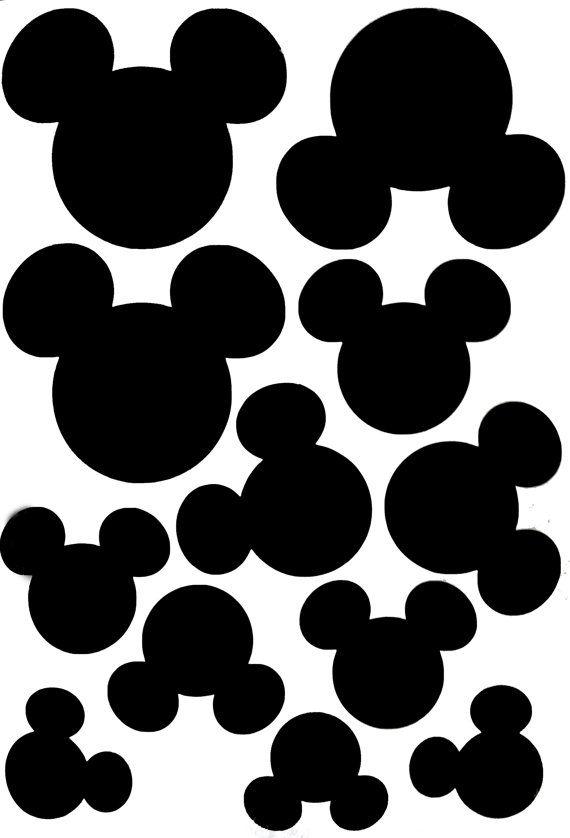 Mickey mouse wall sticker x 12 sticker mickey mouse 8 - Tete de mickey a decouper ...