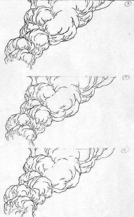 Drawing Animating Water Smoke Fire Weather And Other Effects Smoke Drawing Explosion Drawing Art