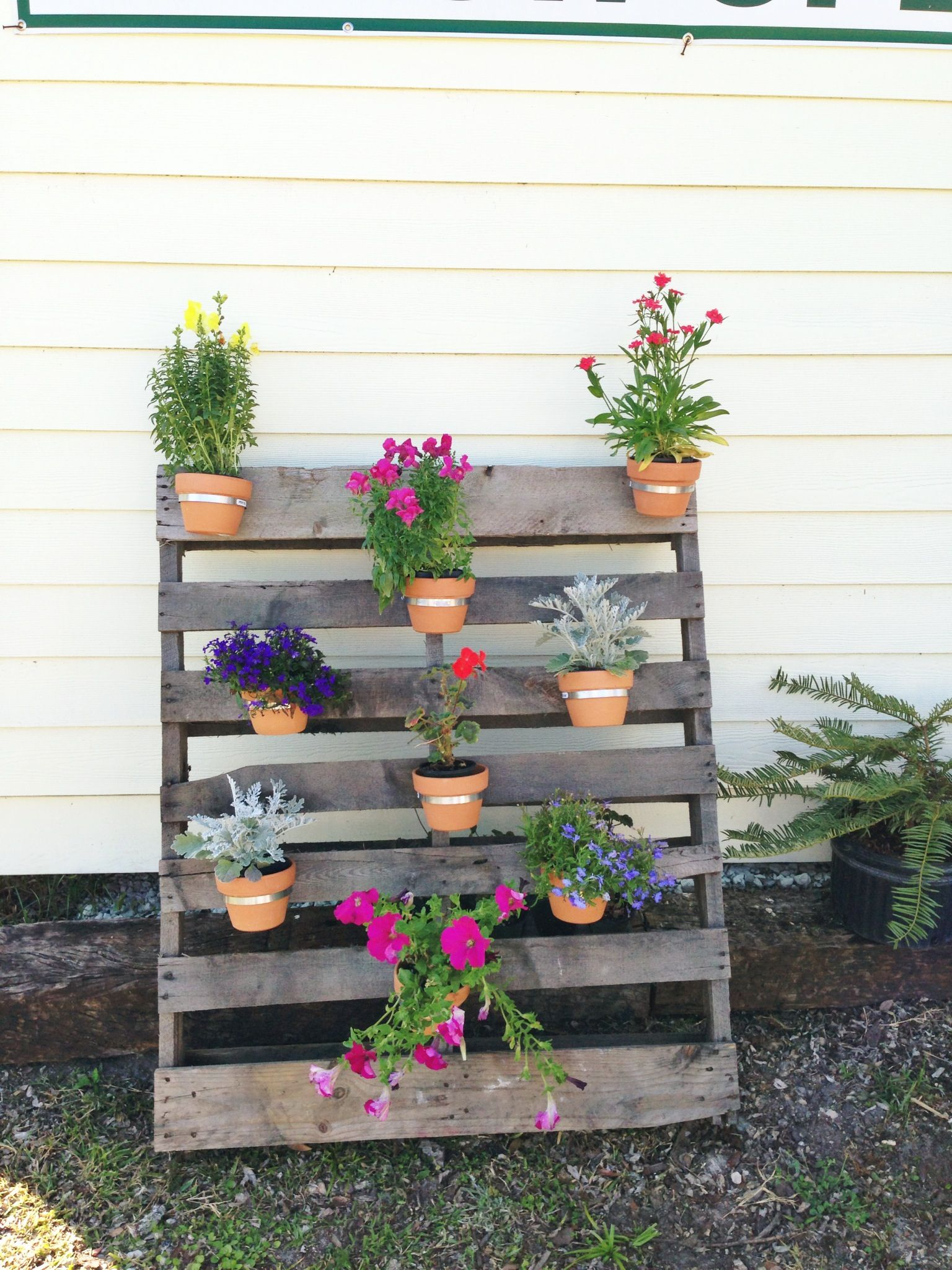 Pallet Planter Make Pallets Garden Outdoor