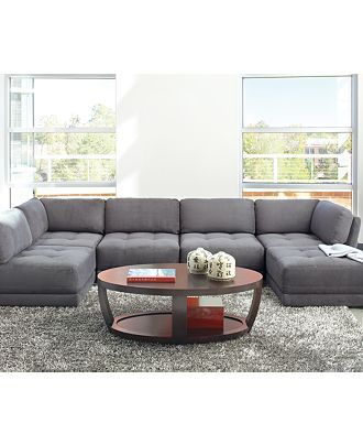 Superieur Modular Sectional; Perfect Fit For Odd Shaped TV Room