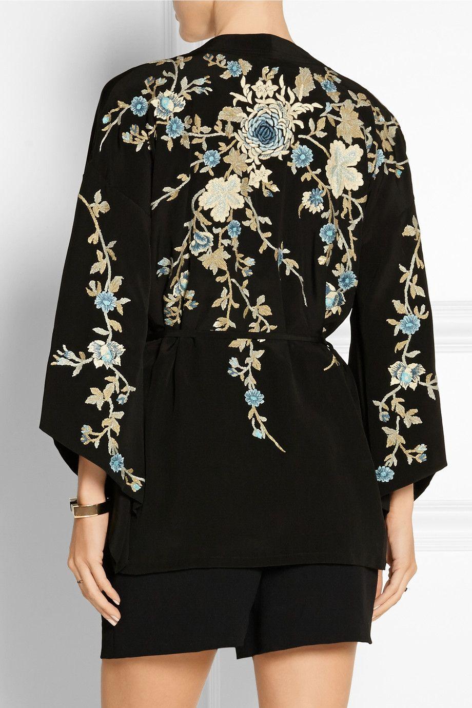 89c73cb376c Talitha   Floral-embroidered silk-crepe kimono jacket   NET-A-PORTER.COM