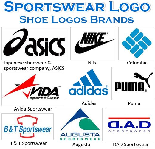 Most Famous Sportswear Logos And Names Shoe Logos Brands Sportswear Brand Sportswear Logo Branding