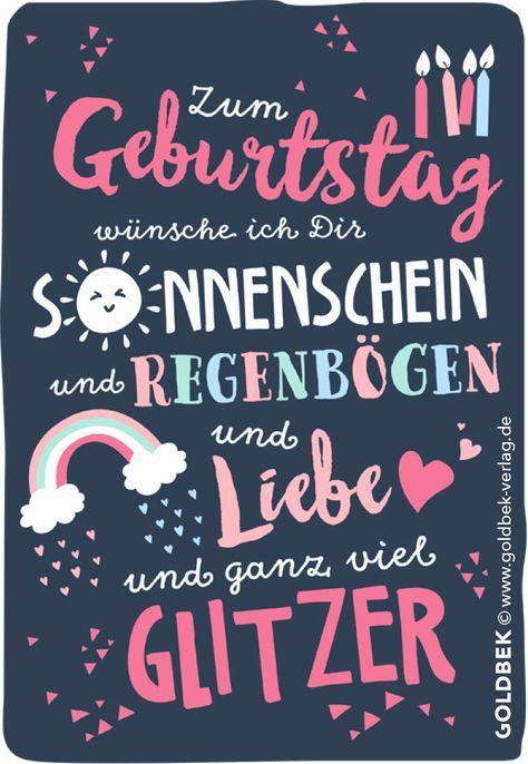 Postkarten Geburtstag Mit Ganz Viel Glitzer Mit Bildern