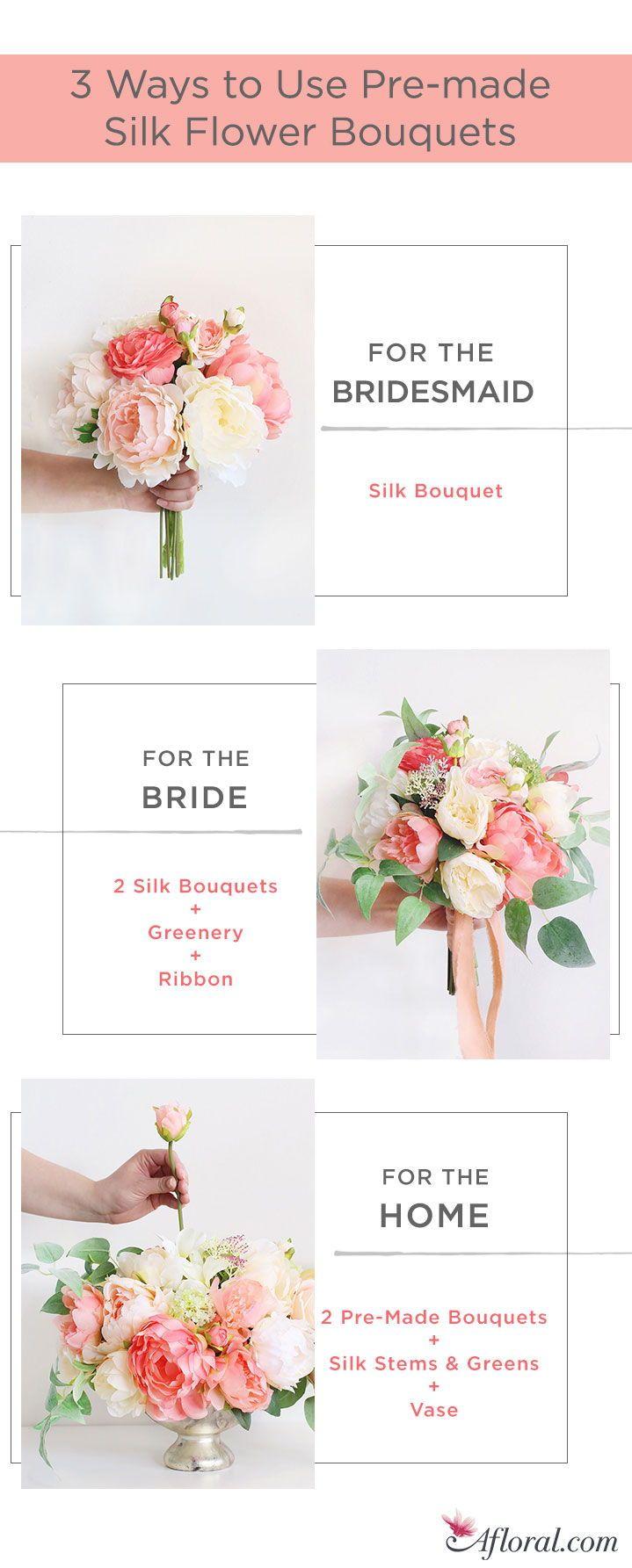 3 Ways to Use Pre-Made Silk Flower Bouquets | Allison wedding ...