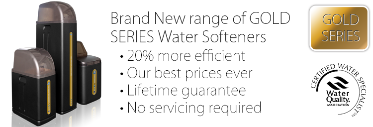 EWT's brand new range of GOLD SERIES Water Softeners. A