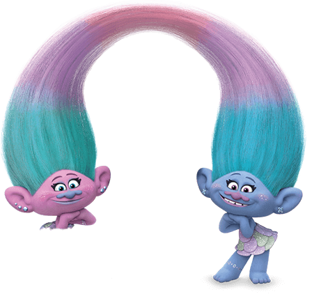 Trolls Satin And Chenille Face Paint