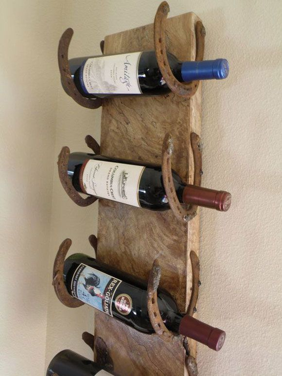 Horseshoe wine bottle storage best horseshoe wine rack for Arts and crafts wine rack