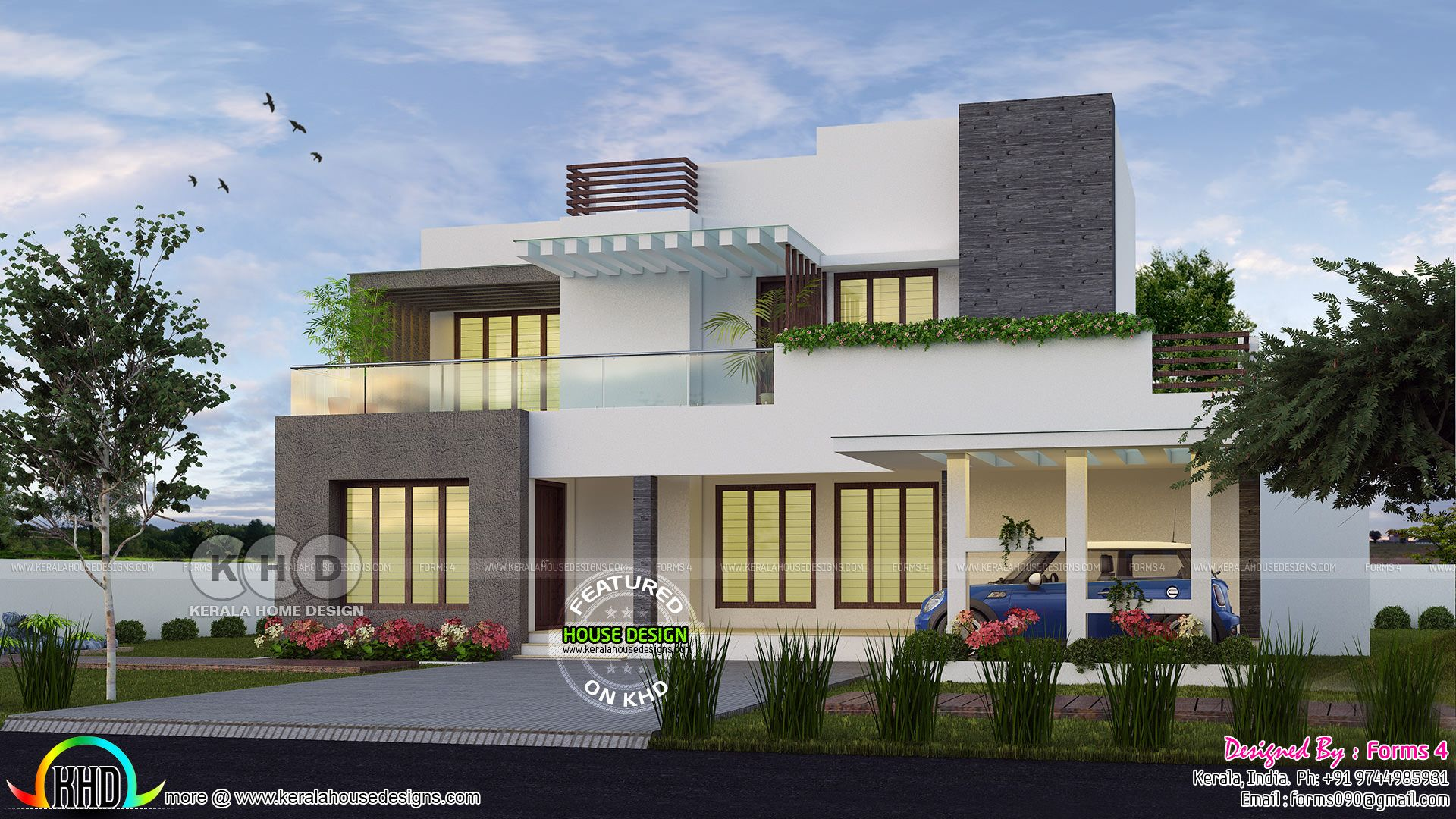 4 Bedroom 35 Lakhs Cost Estimated Modern House Kerala House Design Modern House Kerala Houses
