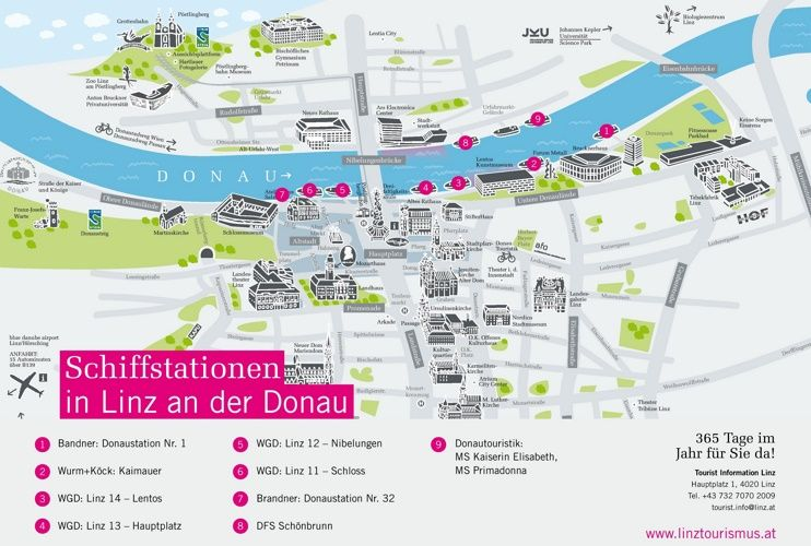 Linz boat map Maps Pinterest Boating Austria and City