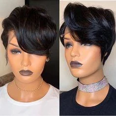 Short Wigs For Black Women Short Wig Black Girl Wigbaba Front Lace Wigs Human Hair Short Wigs Wig Hairstyles