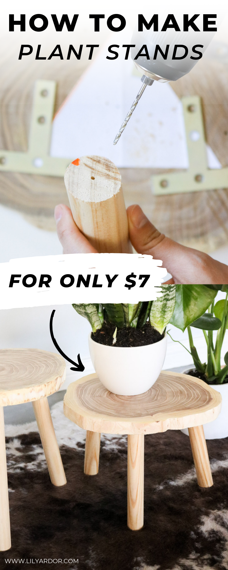 DIY Plant STANDS FOR $7QUICK AND EASY! WOOD PLANTS STANDS is part of Wood plant stand, Plant stand, Diy plants, Diy plant stand, Plant stand indoor, Wooden plant stands - Here's how I made my DIY wood plant stand for only $7! Follow a few easy steps to make your own! GREAT FOR A TOTAL BEGINNER!