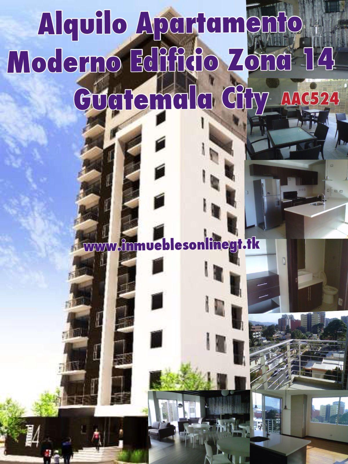 Alquilo Apartamento Moderno Edificio Zona 14 Guatemala City 2 dormitorios 2 parqueos 2 Bańos cocina y lavanderia equipadas edificio con salon social, pergola social, gym, areade nińos, lobby, biz center Renta $800 visitas anaurrutia@live.com t. 53002536 42221612 www.inmueblesonlinegt.tk en Facebook Bienes Inmuebles GT Pinterest  Property Shop GT Codigo AAC524
