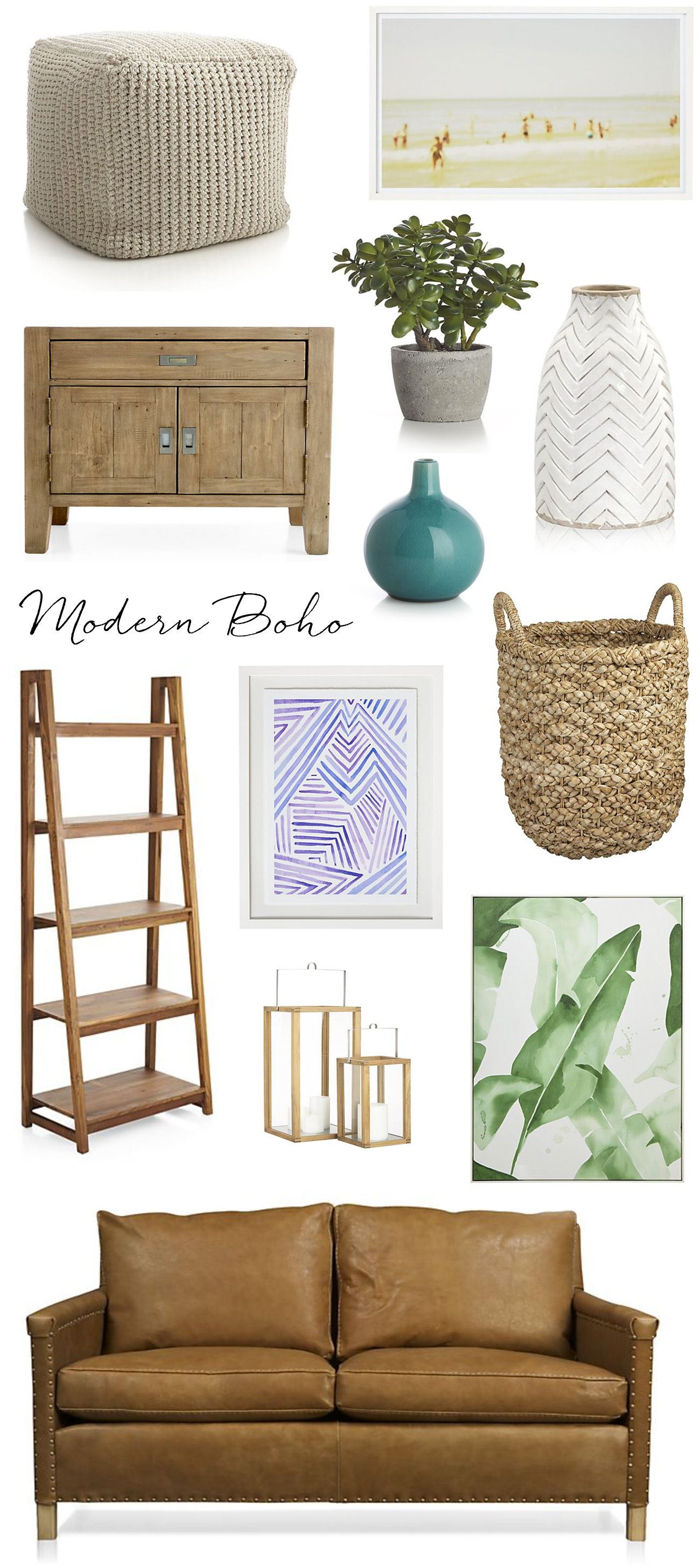 Modern Boho with a California cool feel // interior design style ...