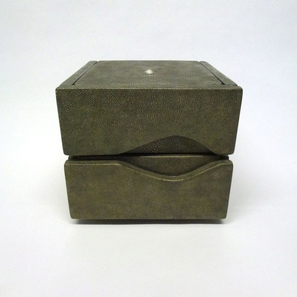SHAGREEN JEWELRY BOX 87500 This jewelry chest is made from vintage