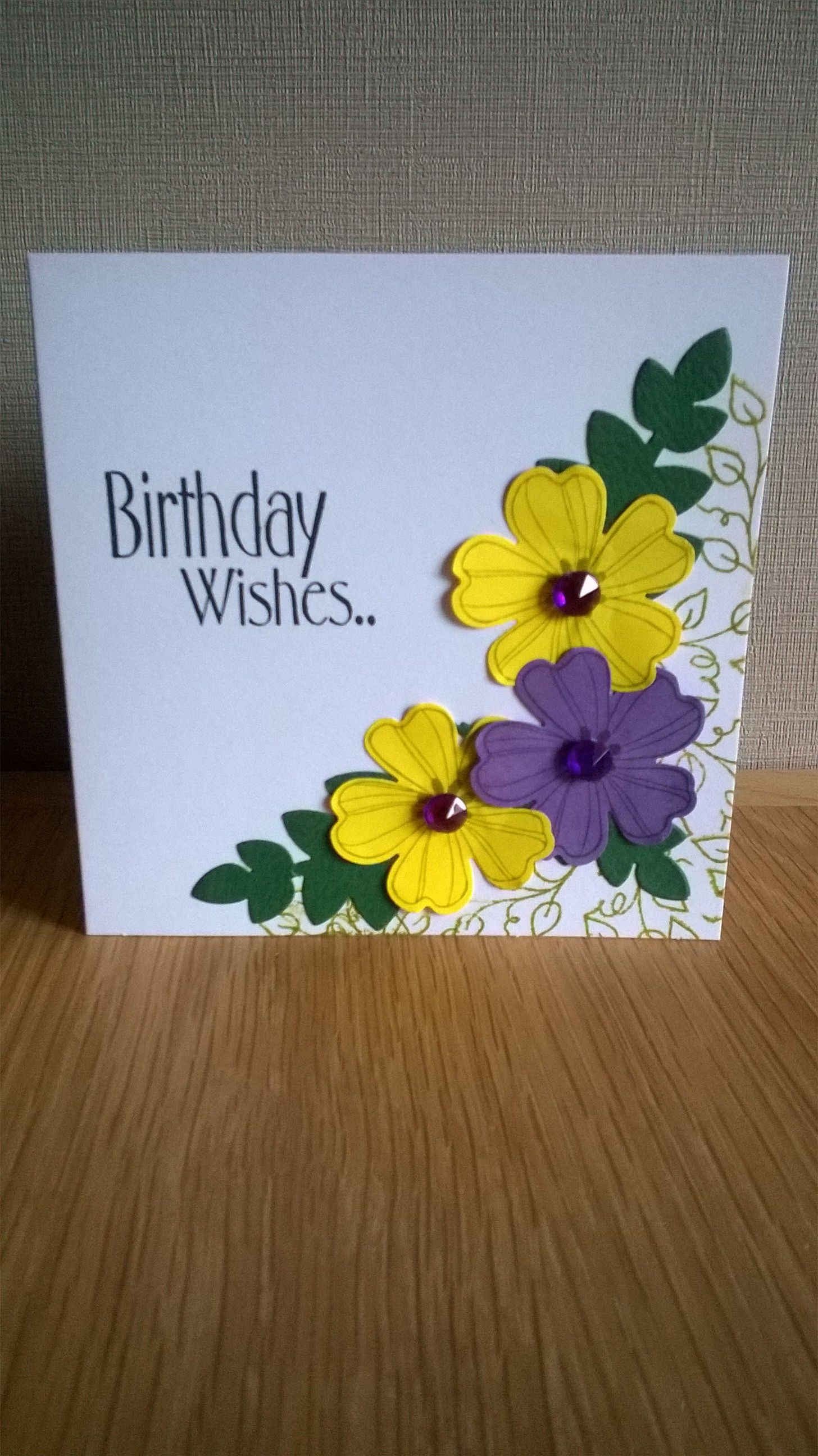 Birthday card using stampin up flower shop paulaus cards