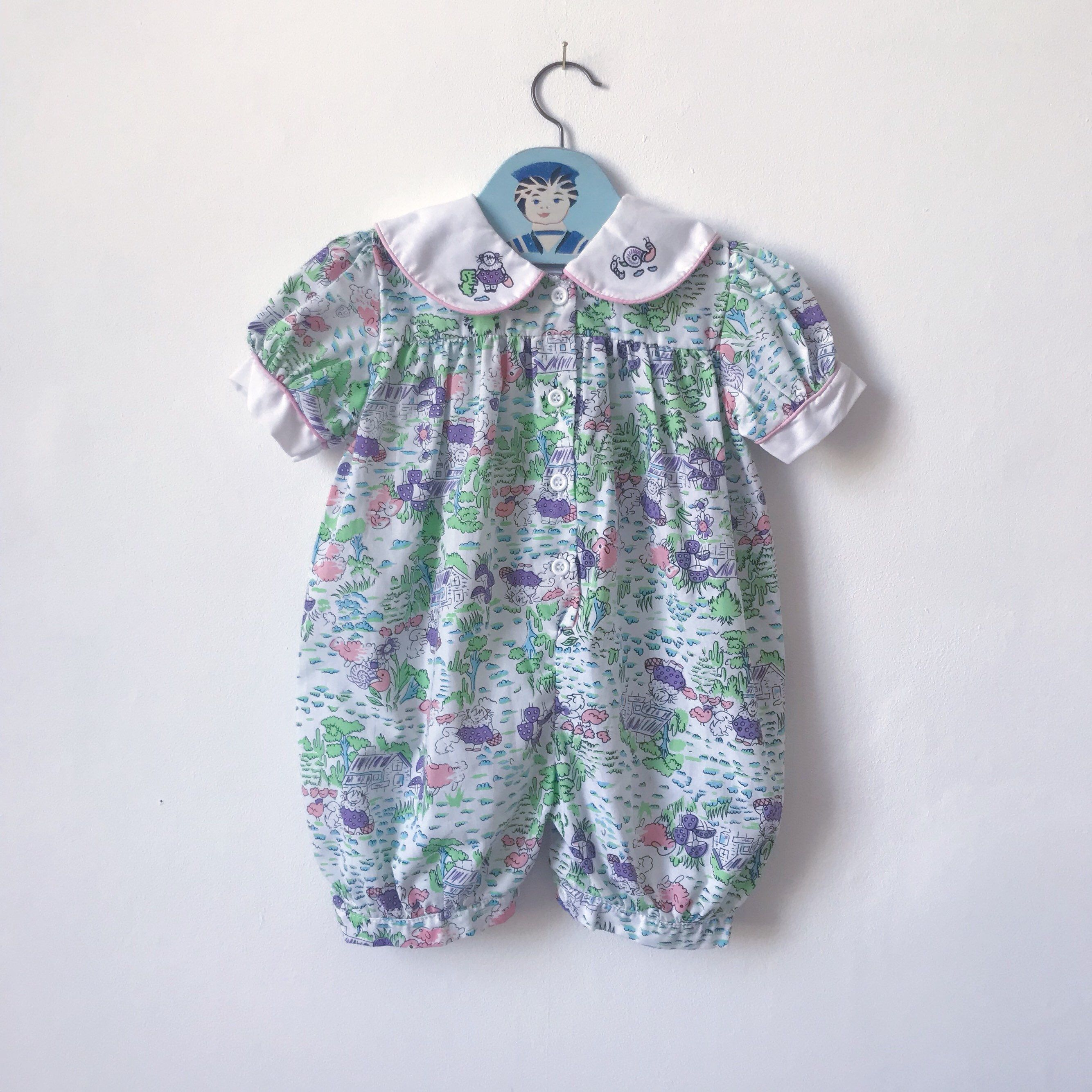 1980s Baby Rompers Vintage Baby Romper All In One Bubble Romper