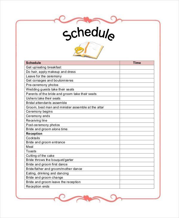 Free Printable Wedding Planner Worksheets Beautiful 7 ...