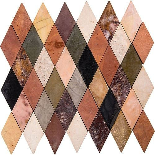 St Tropez Honed Diamonds Limestone Mosaics 10×10