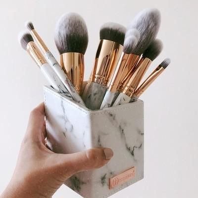 marble luxe  bh cosmetics brushes how to clean makeup