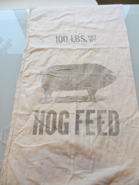 Vintage Pig Feed Sack By Memphisnanney On Etsy 15 00 Bag