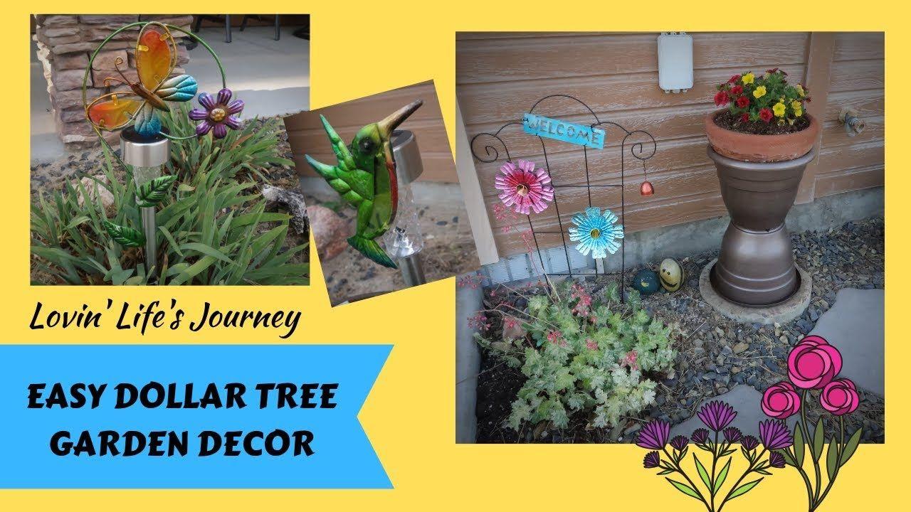 Easy Dollar Tree Garden Decor DIYs for less than $9 - YouTube