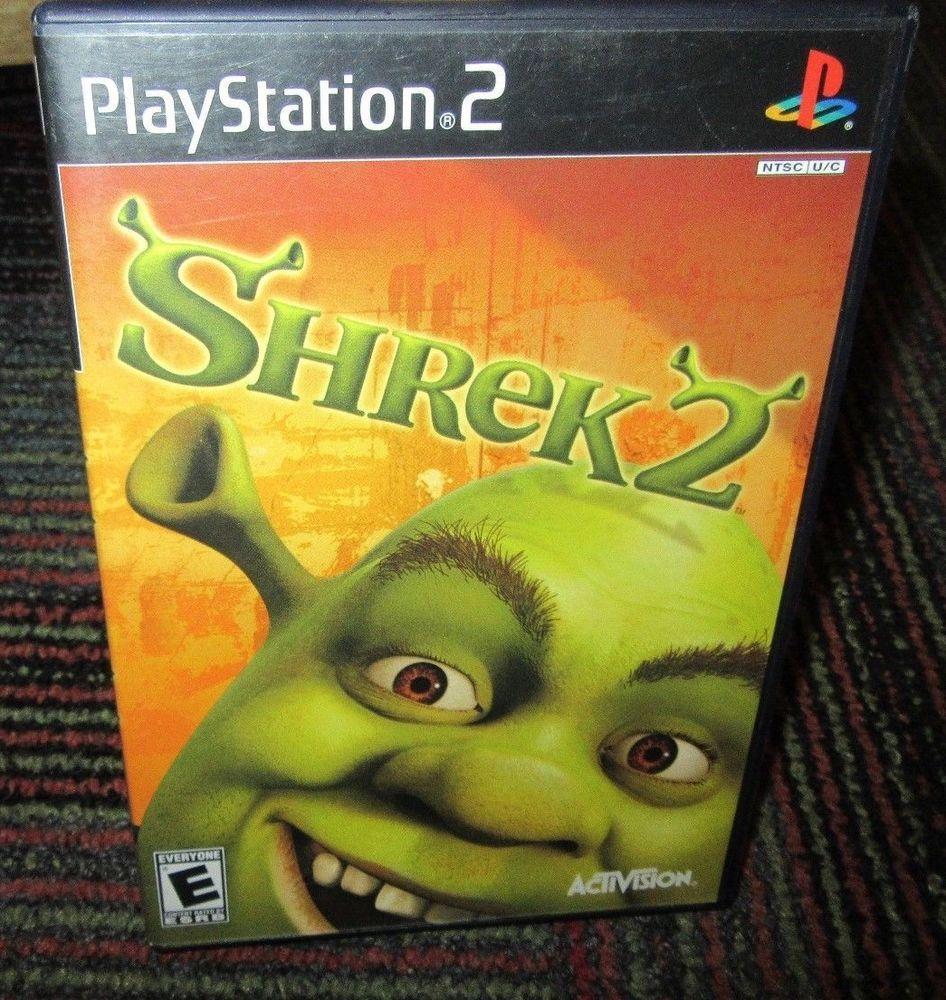 Shrek 2 Game For Playstation 2 Ps2 Case Game Manual Activision Guc Playstation Shrek Activision